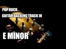 Embedded thumbnail for Pop Rock Guitar Backing Track In E Minor
