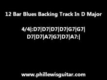 Embedded thumbnail for 12 Bar Blues Backing Track In D Major