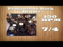 Embedded thumbnail for 150 BPM // 7/4 // Progressive Rock Drums