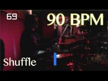 Embedded thumbnail for 90 BPM Shuffle Beat - Drum Track