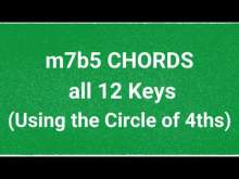 Embedded thumbnail for Minor 7b5 - ONE CHORD WORKOUT - JAZZ - Backing Track Jam