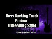 Embedded thumbnail for Bass Backing Track E minor - Little Wing Style Jimi Hendrix Classic Rock - NO BASS- Chords Scale BPM