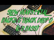 Embedded thumbnail for Slow heavy metal backing track drop d - (no bass)
