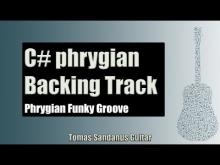 Embedded thumbnail for Phrygian Funky Groove | Guitar Backing Track Jam in C# phrygian mode with Chords | C# phrygian Scale