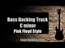 Embedded thumbnail for Bass Backing Track C minor - Cmi -  Pink Floyd Style Classic Rock - NO BASS