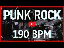 Embedded thumbnail for Punk Rock Metal Drum Track 190 BPM [HD]