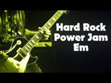 Embedded thumbnail for E Minor Hard Rock Backing Track For Guitar