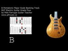 Embedded thumbnail for Guitar Backing Track B Pentatonic Major - Grade Four
