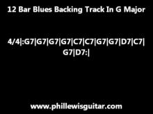 Embedded thumbnail for 12 Bar Blues Backing Track In G Major