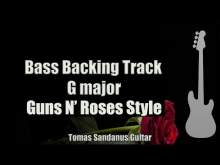 Embedded thumbnail for Bass Backing Track G major - Knockin on Heavens Door - Guns N Roses style - NO BASS