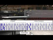 Embedded thumbnail for Sad Piano Ballad Guitar Backing Track Jam In Am [9]