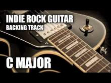 Embedded thumbnail for Indie Rock Guitar Backing Track In C Major / A Minor