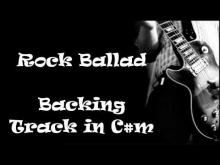 Embedded thumbnail for C#m Rock ballad Backing Track