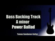 Embedded thumbnail for Bass Backing Track | A minor | Slow Power Ballad | NO BASS | Chords | Scale | BPM