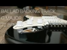 Embedded thumbnail for  Ballad Guitar Backing Track | G Major (72 bpm)