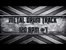 Embedded thumbnail for Simple Straight Metal Drum Track 120 BPM (HQ,HD)
