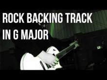 Embedded thumbnail for Rock Guitar Backing Track in G Major
