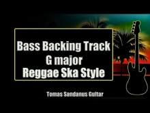 Embedded thumbnail for Bass Backing Track G major - Reggae Ska Style - NO BASS