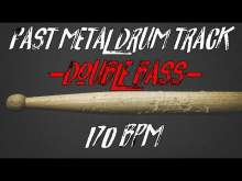Embedded thumbnail for Fast metal drums only 170 bpm - double bass