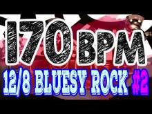 Embedded thumbnail for 170 BPM - Blues Rock Shuffle #2 - 12/8 Drum Track - Metronome - Drum Beat