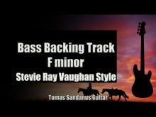 Embedded thumbnail for Bass Backing Track F minor - Stevie Ray Vaughan Style - Slow Blues - NO BASS - Chords - Scale - BPM