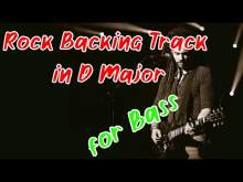Embedded thumbnail for Rock backing d major - no bass