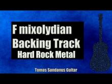 Embedded thumbnail for F mixolydian Backing Track - Hard Rock Metal Guitar Backtrack - Chords - Scale - BPM