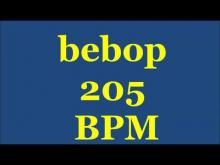 Embedded thumbnail for Drum Loops for Practice Bebop 205bpm