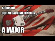 Embedded thumbnail for Acoustic Guitar Backing Track In A Major / D Lydian