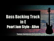 Embedded thumbnail for Bass Backing Track in E - Pearl jam Style - Grunge Rock Alive - NO BASS - Chords - Scale - BPM
