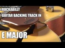 Embedded thumbnail for Rockabilly Guitar Backing Track In E Major