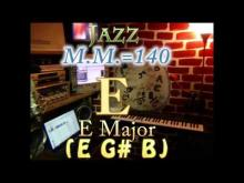 Embedded thumbnail for E Major (E G# B) - Jazz - M.M.=140 - One Chord Backing Track