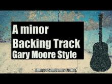 Embedded thumbnail for Gary Moore Style Backing Track in A minor - Rock Power Ballad Guitar Backtrack - Chords Scale BPM