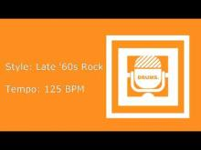 Embedded thumbnail for Drum Backing Track: Late '60s Rock. 125 BPM