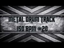 Embedded thumbnail for Groovy Metal Drum Track 150 BPM (HQ,HD)