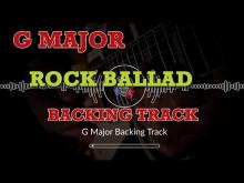Embedded thumbnail for Rock Ballad Guitar Backing Track in G Major