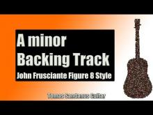 Embedded thumbnail for Backing Track in A minor John Frusciante Figure 8 Lick RHCP style with Chords & Scale