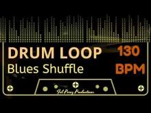 Embedded thumbnail for BLUES SHUFFLE - DRUM LOOP 130 BPM (Backing Track Bateria)
