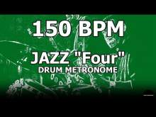 """Embedded thumbnail for Jazz """"Four""""   Drum Metronome Loop   150 BPM"""