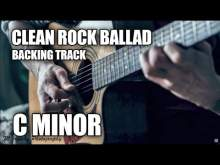 Embedded thumbnail for Clean Rock Ballad Guitar Backing Track In C Minor