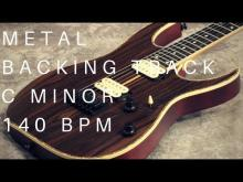 Embedded thumbnail for Metal Guitar Backing Track | C Minor (140 Bpm)