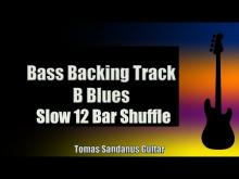 Embedded thumbnail for Bass Backing Track B Blues - Slow 12 bar Shuffle - NO BASS - Chords - Scale - BPM