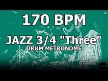 "Embedded thumbnail for Jazz 3/4 ""Three""   Drum Metronome Loop   170 BPM"
