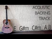 Embedded thumbnail for Acoustic Guitar Backing Track E major