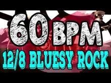 Embedded thumbnail for 60 BPM - Blues Rock Shuffle #1  - 12/8 Drum Track - Metronome - Drum Beat