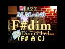 Embedded thumbnail for F# Diminished (F# A C) - Jazz - M.M.=140 - One Chord Backing Track