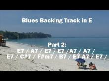 Embedded thumbnail for Blues Backing Track in E