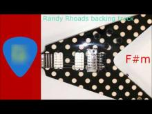 Embedded thumbnail for Randy Rhoads style backing track F#m