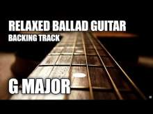 Embedded thumbnail for Relaxed Rock Ballad Guitar Backing Track In G Major