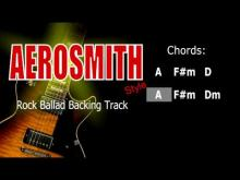 Embedded thumbnail for Rock Ballad Aerosmith Style Guitar Backing Track 57 Bpm